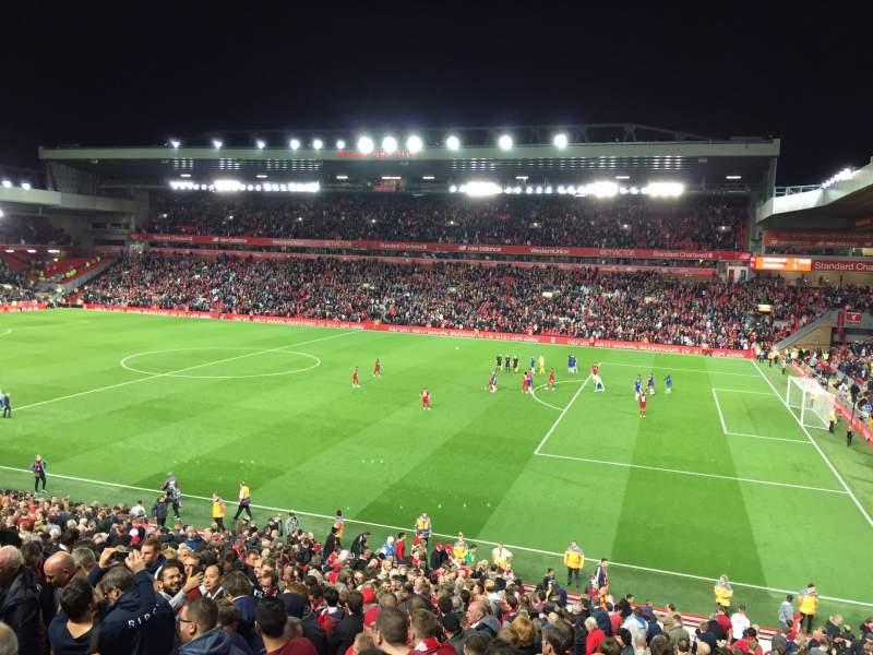 Vista sentada para Anfield Secção L16 Fila 36 Lugar 0215