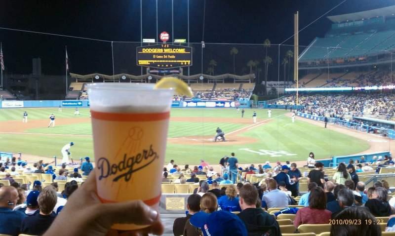 Vista sentada para Dodger Stadium Secção 5FD Fila s Lugar 12