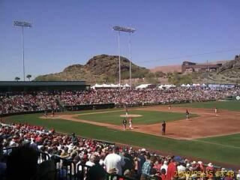 Vista sentada para Tempe Diablo Stadium Secção 21