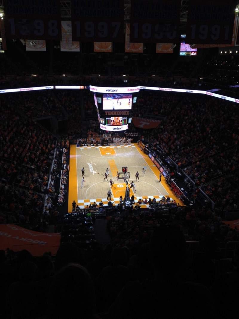 Vista sentada para Thompson-Boling Arena Secção 314 Fila 11 Lugar 5