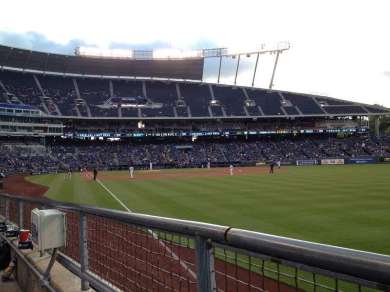 Vista sentada para Kauffman Stadium Secção 146 Fila G Lugar 5