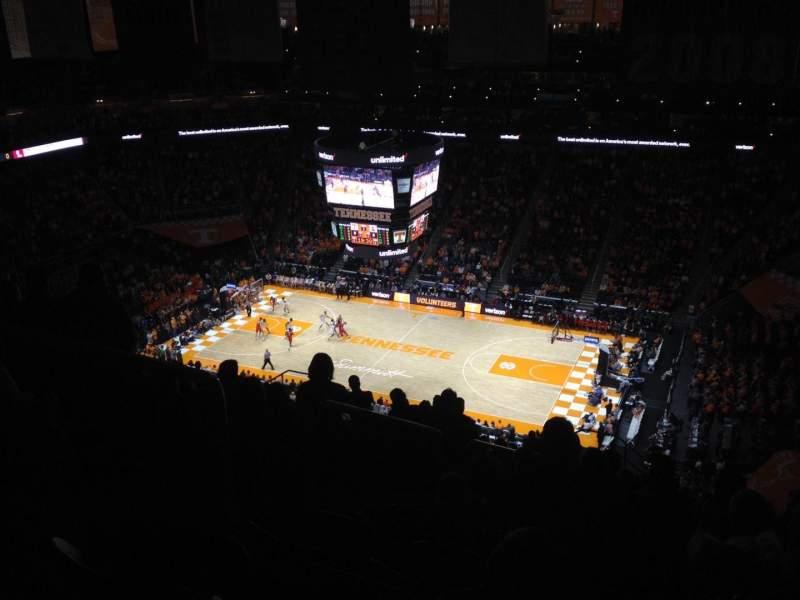 Vista sentada para Thompson-Boling Arena Secção 318 Fila 20 Lugar 10