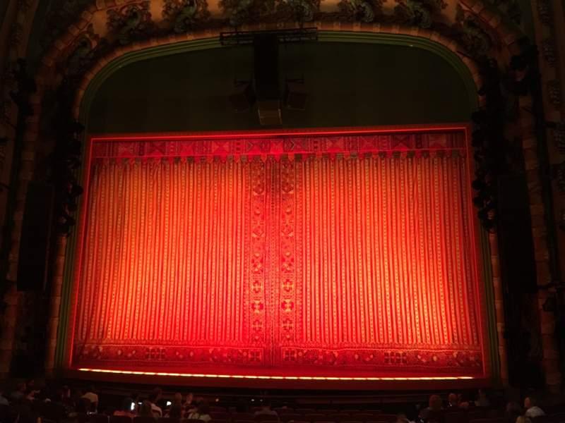 Vista sentada para New Amsterdam Theatre Secção Orchestra C Fila Q Lugar 103