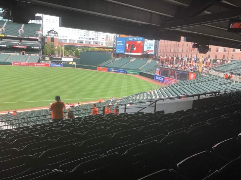 Vista sentada para Oriole Park at Camden Yards Secção 15 Fila 10 Lugar 18