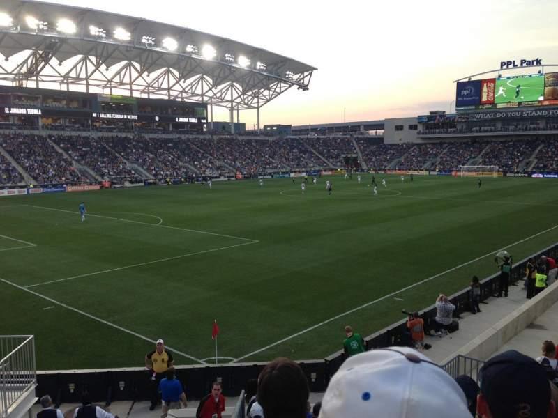 Vista sentada para Talen Energy Stadium Secção 133 Fila N Lugar 12