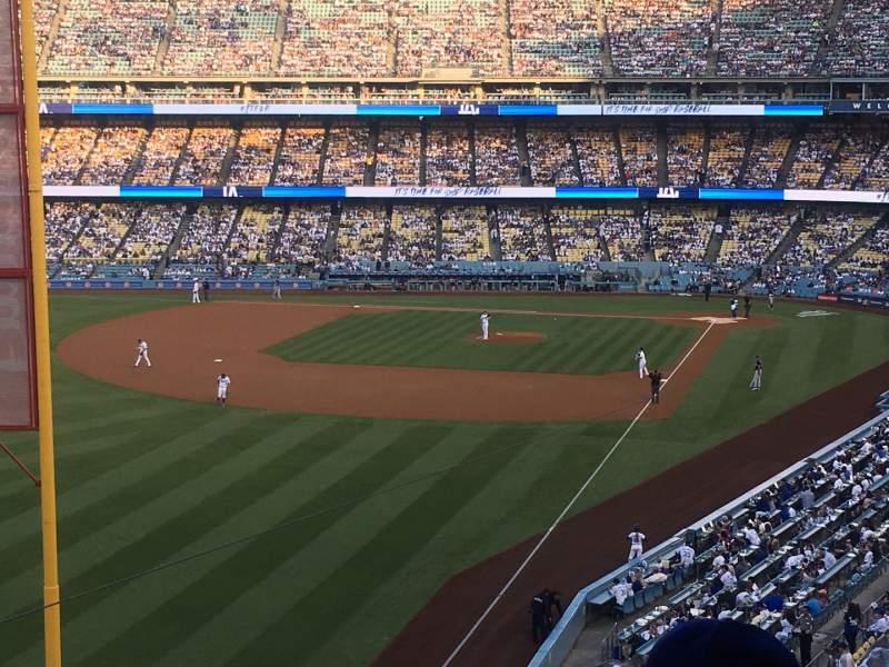 Vista sentada para Dodger Stadium Secção 255 Club Fila B Lugar 3