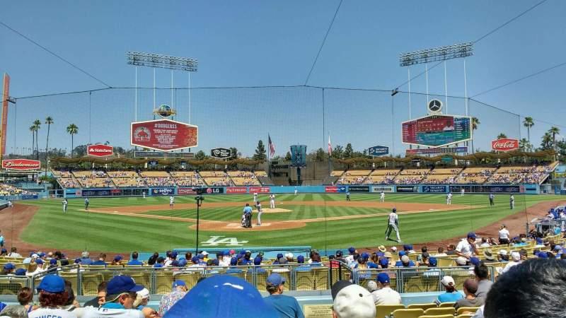 Vista sentada para Dodger Stadium Secção 2FD Fila k Lugar 10
