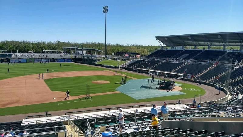 Vista sentada para Hammond Stadium at CenturyLink Sports Complex Secção 216 Fila 12 Lugar 2