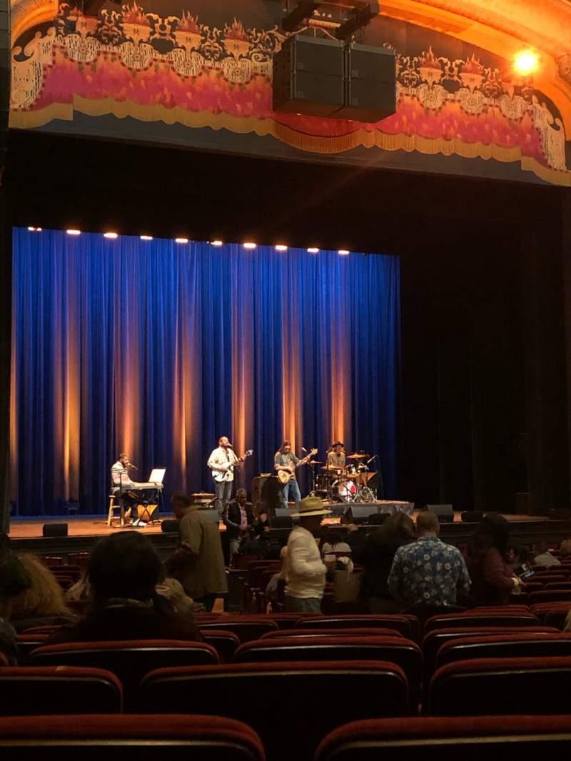 Vista sentada para Balboa Theatre Secção Orchestra Fila V Lugar 13