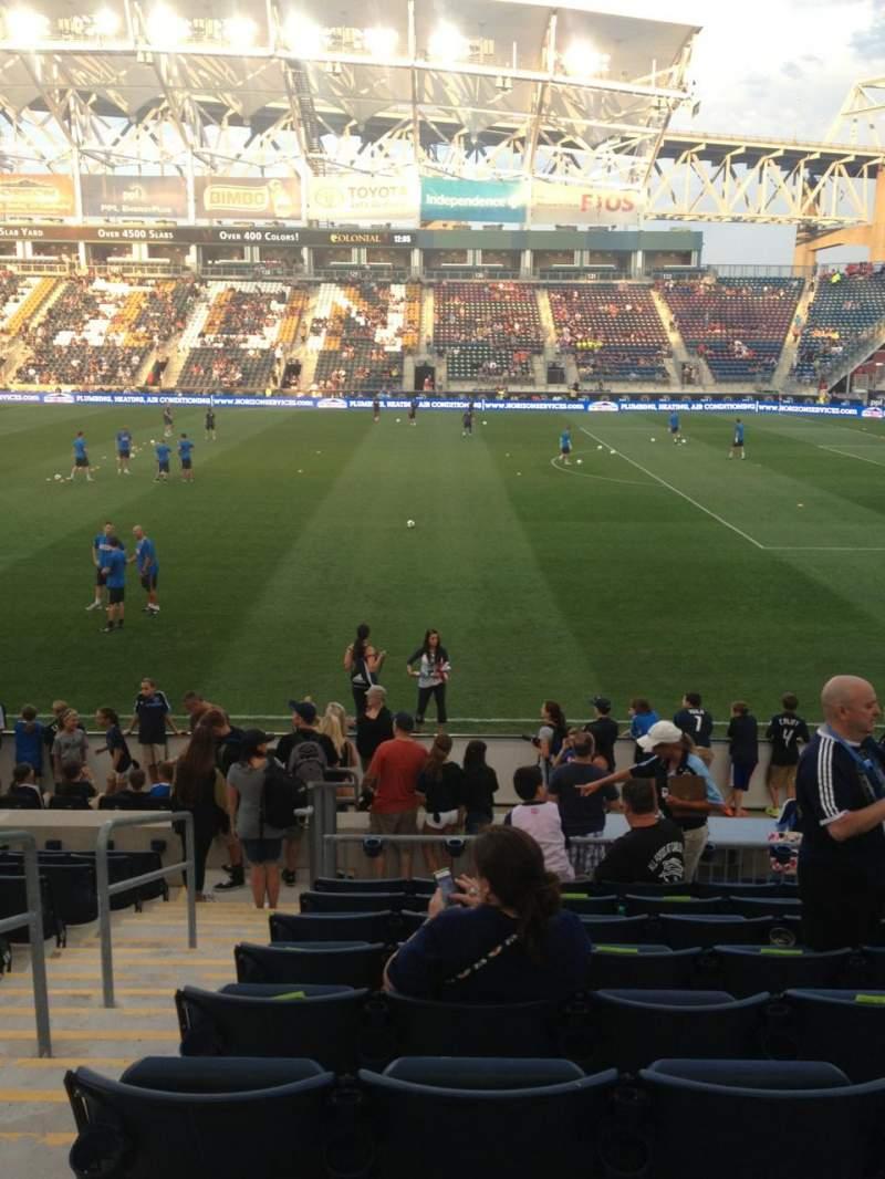 Vista sentada para Talen Energy Stadium Secção 104 Fila M Lugar 15
