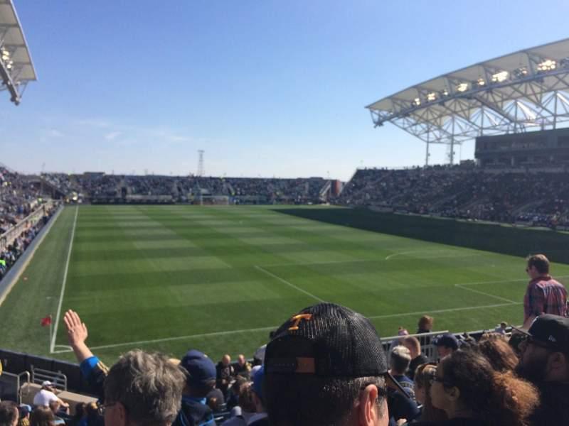 Vista sentada para Talen Energy Stadium Secção 120 Fila R Lugar 10