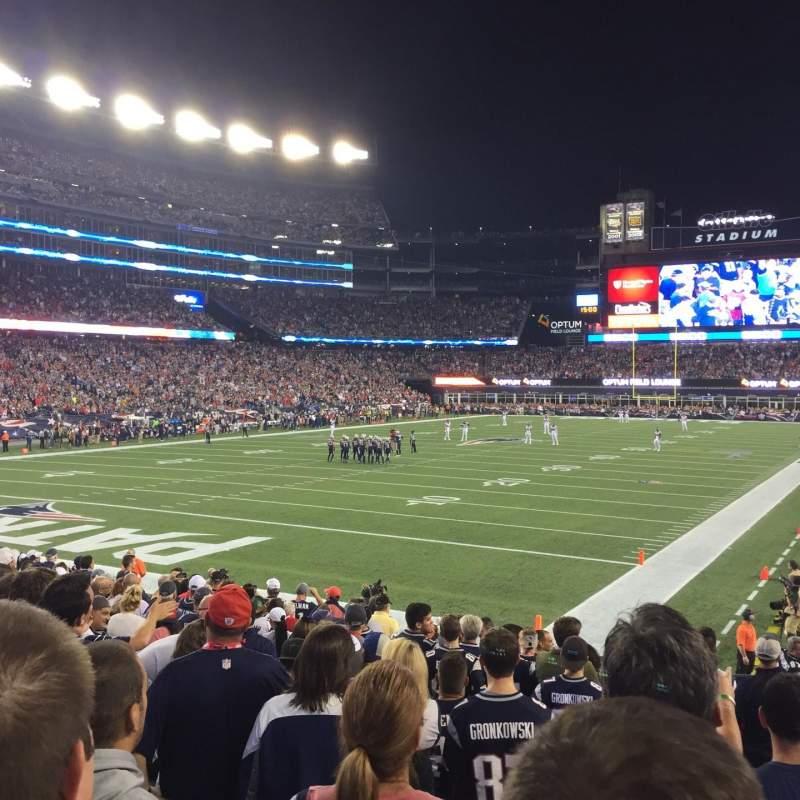 Vista sentada para Gillette Stadium Secção 140 Fila 15 Lugar 3