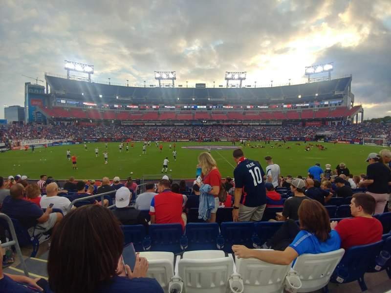 Vista sentada para Nissan Stadium Secção 112 Fila J Lugar 21