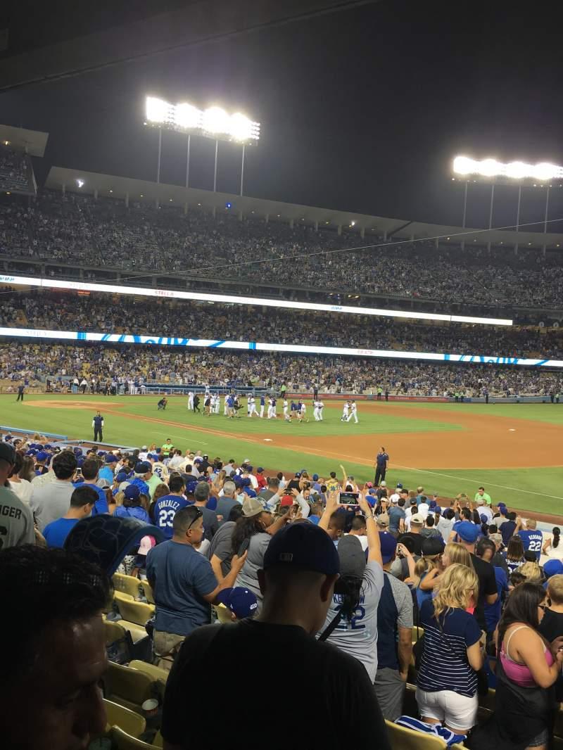 Vista sentada para Dodger Stadium Secção 34FD Fila U Lugar 4
