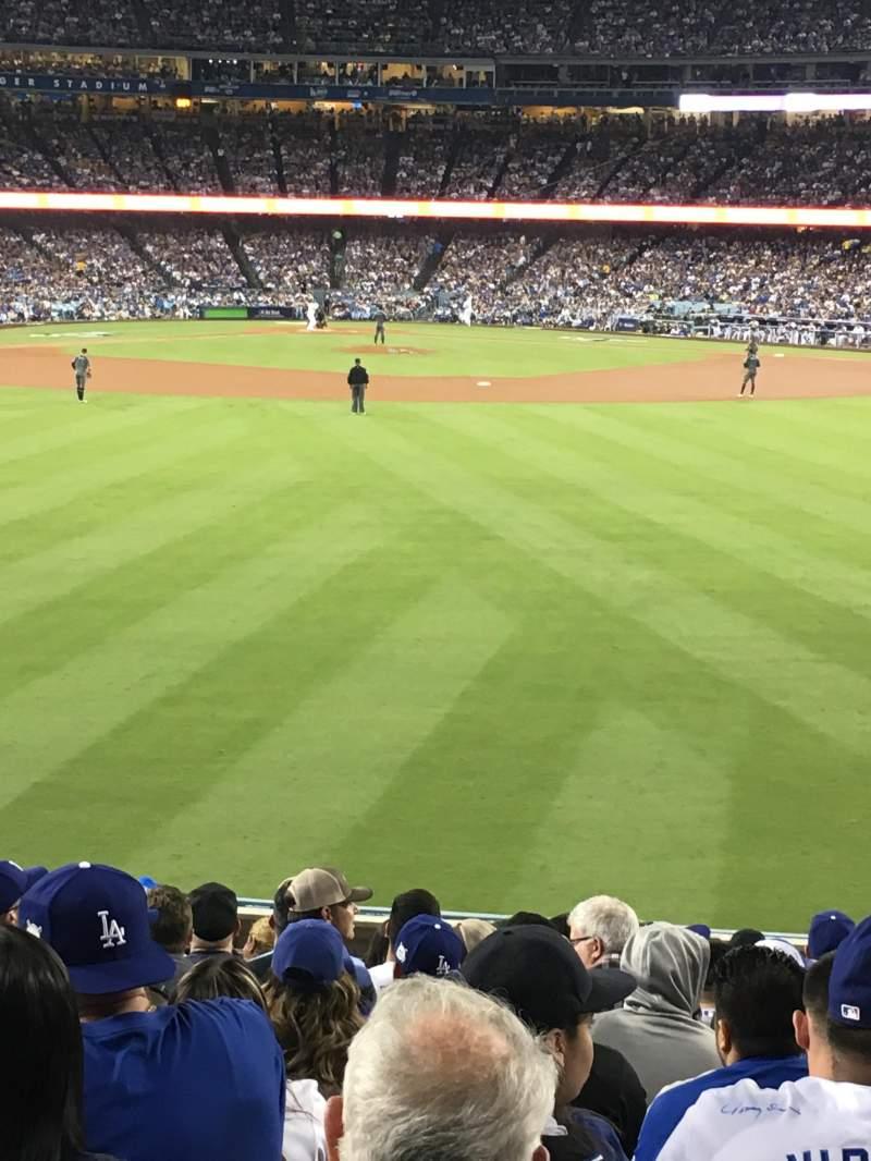 Vista sentada para Dodger Stadium Secção 314PL Fila N Lugar 10