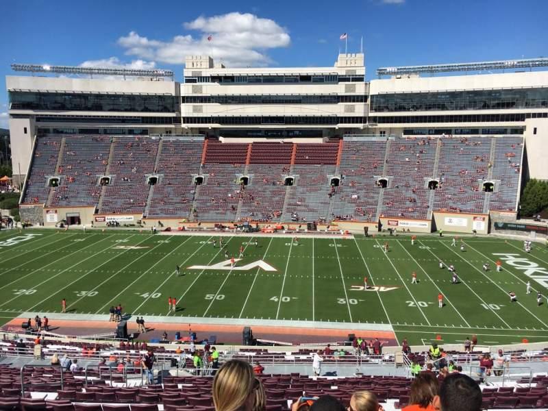 Vista sentada para Lane Stadium Secção 9 Fila UUU Lugar 24