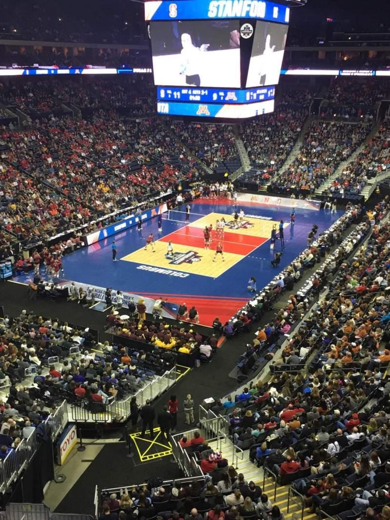 Vista sentada para Nationwide Arena Secção 221 Fila C Lugar 9
