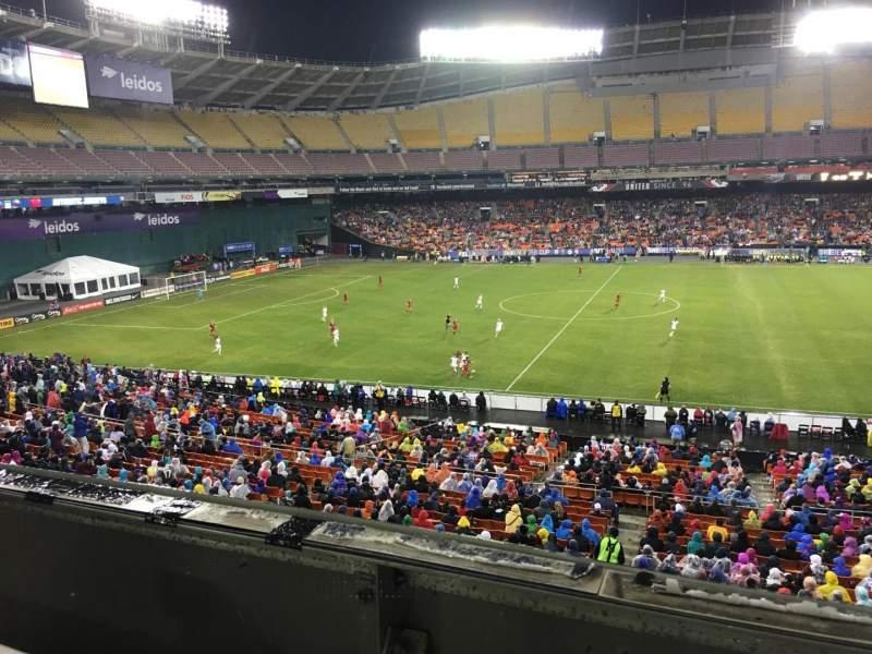 Vista sentada para RFK Stadium Secção M35 Fila 1 Lugar 8