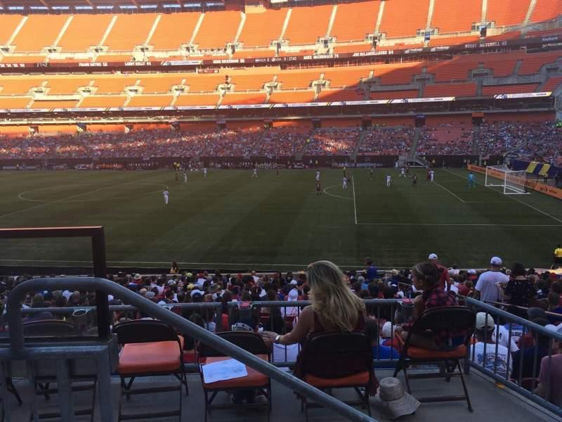 Vista sentada para FirstEnergy Stadium Secção 136 Fila 23 Lugar 3