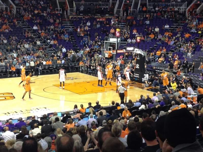 Vista sentada para PHX Arena Secção 103 Fila 18 Lugar 1