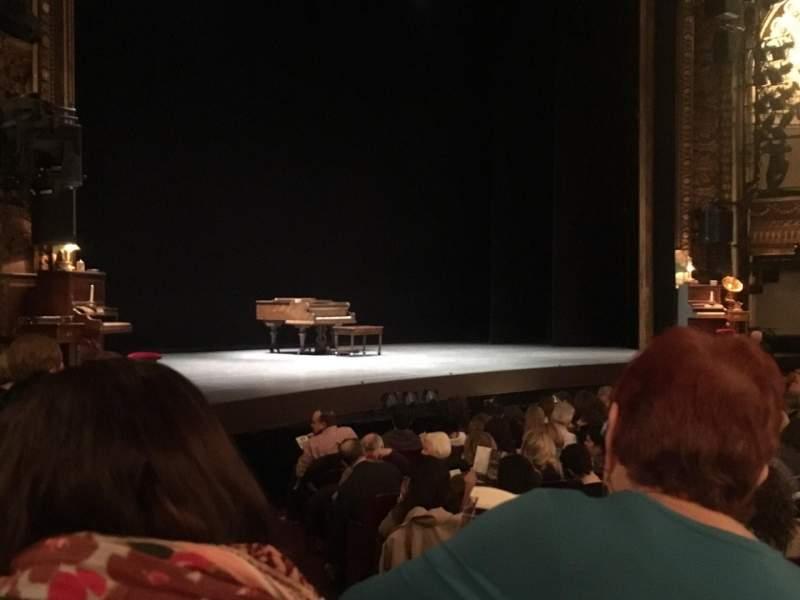 Vista sentada para Palace Theatre (Broadway) Secção Orchestra Fila L Lugar 2