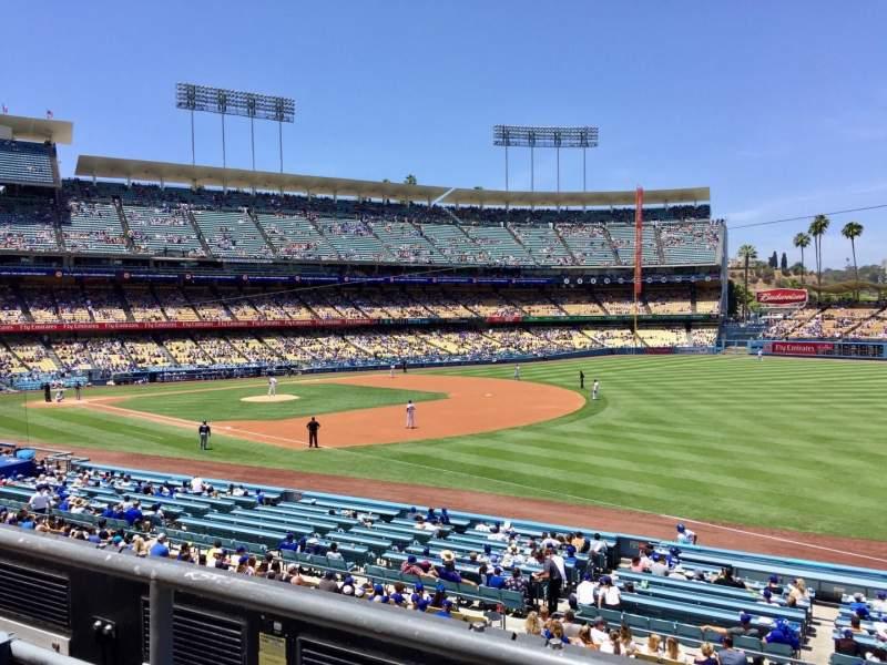 Vista sentada para Dodger Stadium Secção 154LG Fila B Lugar 1