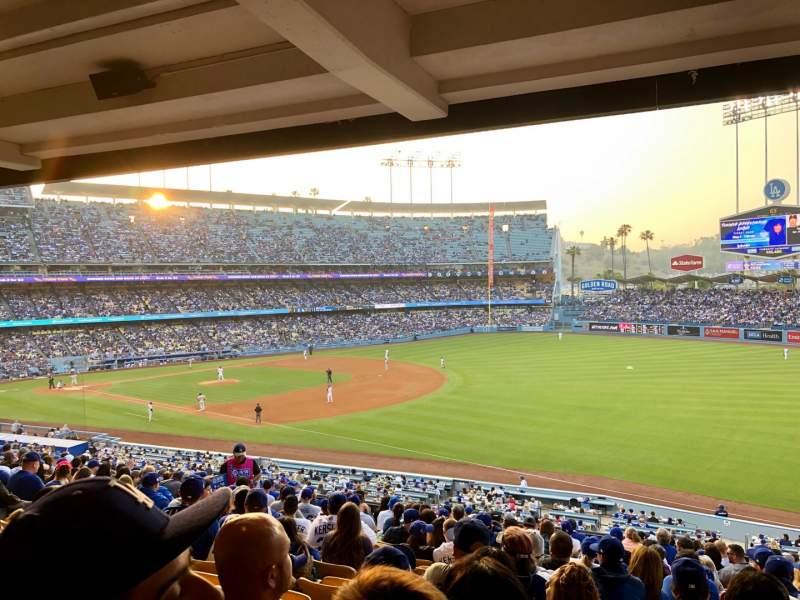 Vista sentada para Dodger Stadium Secção 156LG Fila S Lugar 3