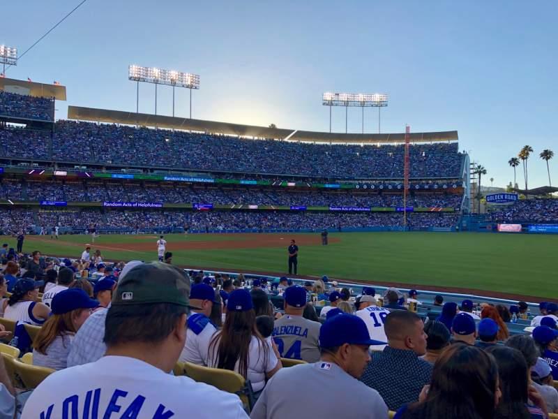 Vista sentada para Dodger Stadium Secção 42FD Fila G Lugar 3