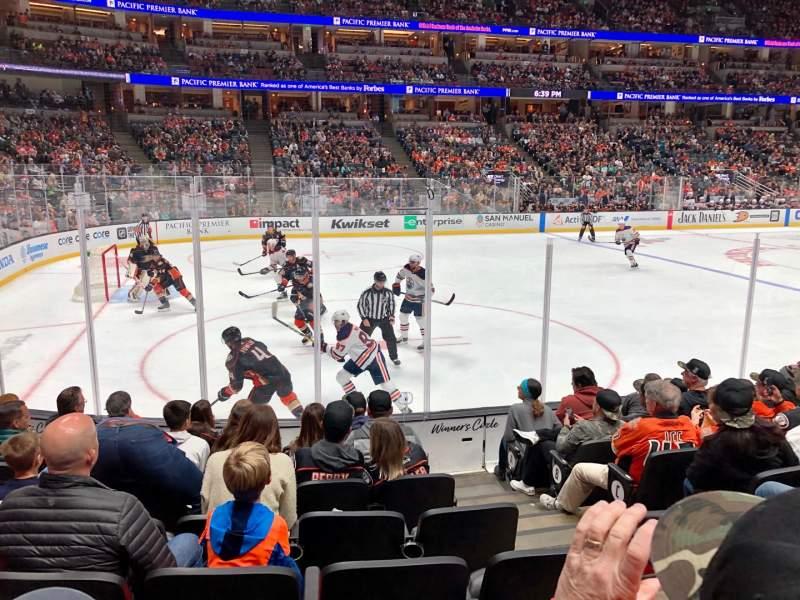 Vista sentada para Honda Center Secção 225 Fila H Lugar 3