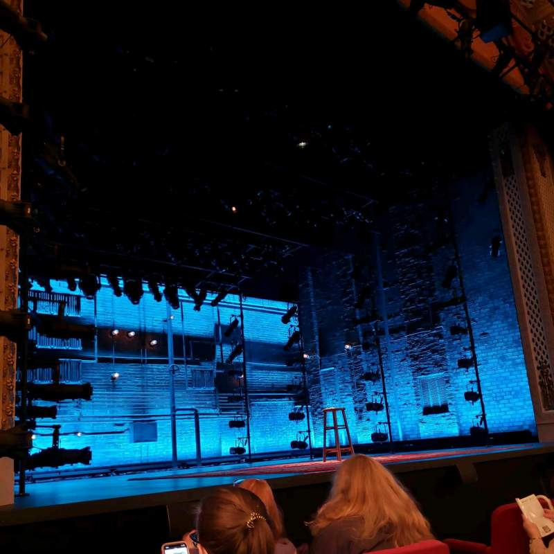 Vista sentada para Cort Theatre Secção Orchestra L Fila C Lugar 9