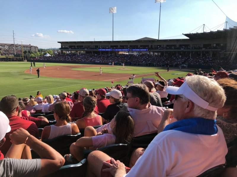 Vista sentada para Baum Stadium Secção 116 Fila T Lugar 10