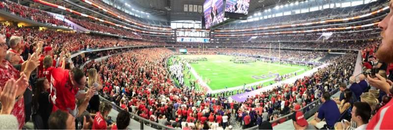 Vista sentada para AT&T Stadium Secção 226 Fila 3 Lugar 15