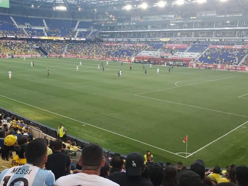 Vista sentada para Red Bull Arena (New Jersey) Secção 122 Fila 7 Lugar 11