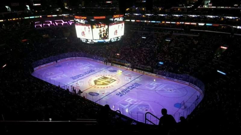 Vista sentada para Staples Center Secção 314 Fila 10 Lugar 13-14