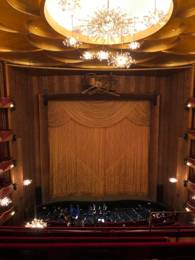 Vista sentada para Metropolitan Opera House - Lincoln Center Secção Balcony Fila D Lugar 103