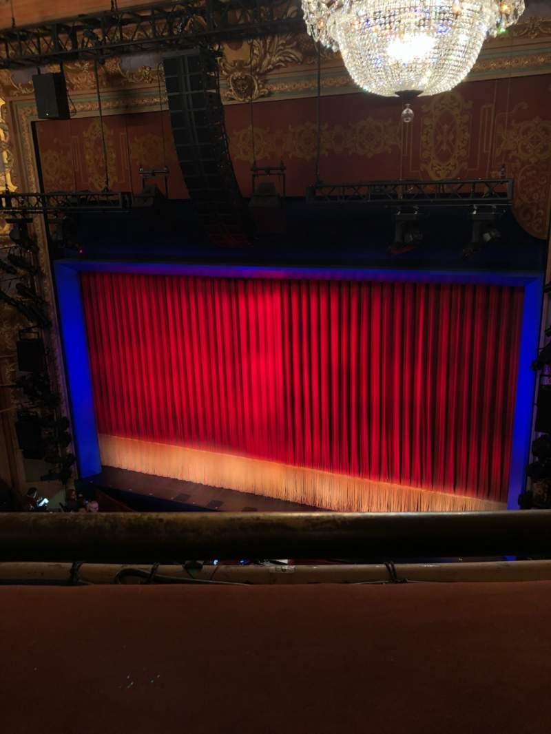 Vista sentada para Longacre Theatre Secção Balcony R Fila A Lugar 3