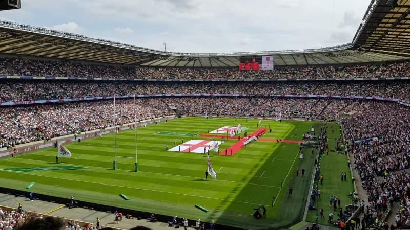 Vista sentada para Twickenham Stadium Secção M17 Fila 68 Lugar 38