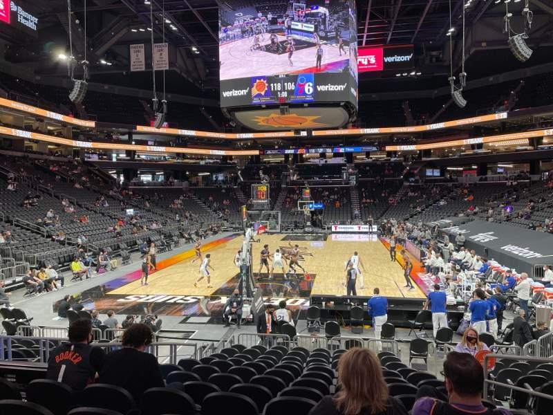 Vista sentada para PHX Arena Secção 108 Fila 13 Lugar 5