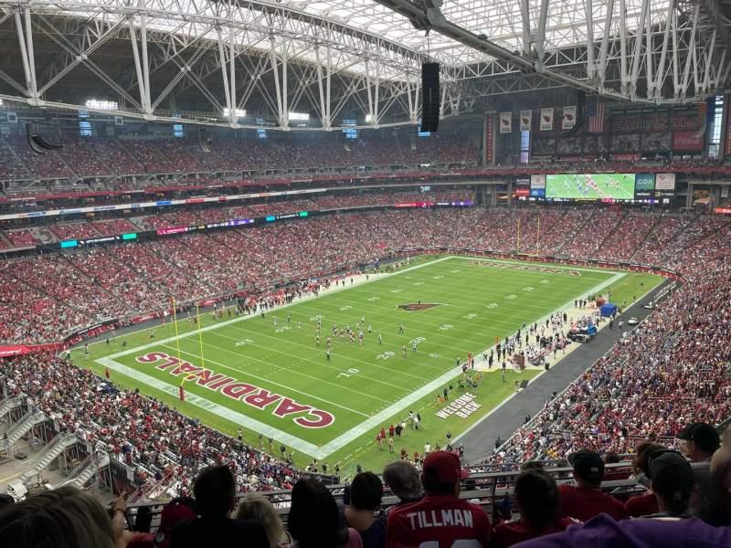 Vista sentada para State Farm Stadium Secção 453 Fila 5 Lugar 11