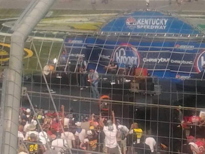 Vista sentada para Kentucky Speedway Secção 3f Fila 10 Lugar 6
