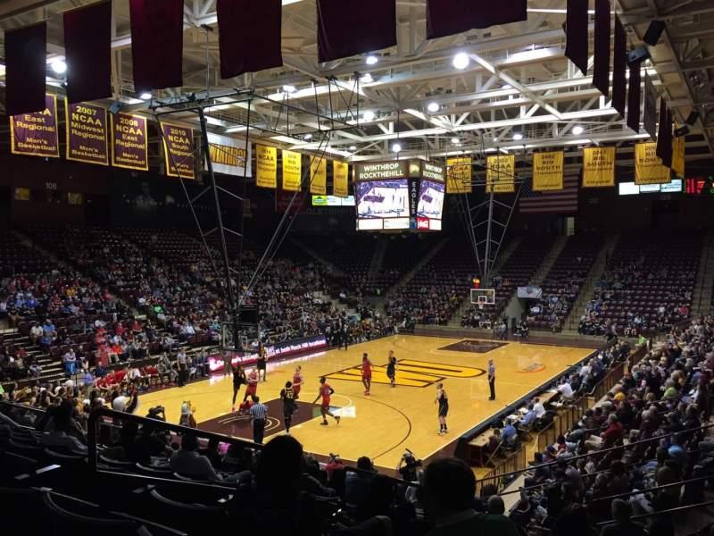 Vista sentada para Winthrop Coliseum Secção 118 Fila P Lugar 9