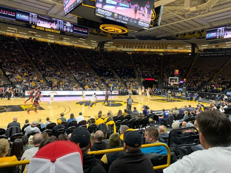 Vista sentada para Carver-Hawkeye Arena Secção M Fila 8 Lugar 5