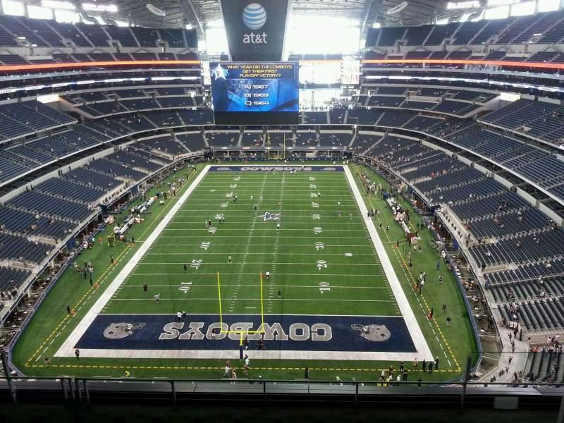 Vista sentada para AT&T Stadium Secção SRO North End Zone, 4th level