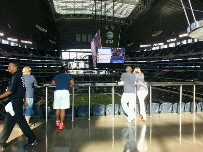 Vista sentada para AT&T Stadium Secção SRO behind section 325 Fila 1st table