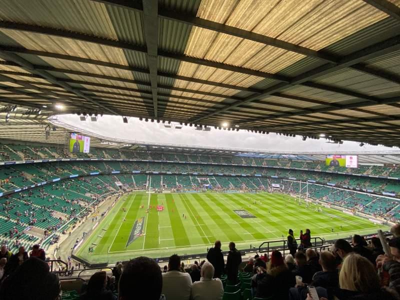 Vista sentada para Twickenham Stadium Secção U37 Fila M Lugar 351