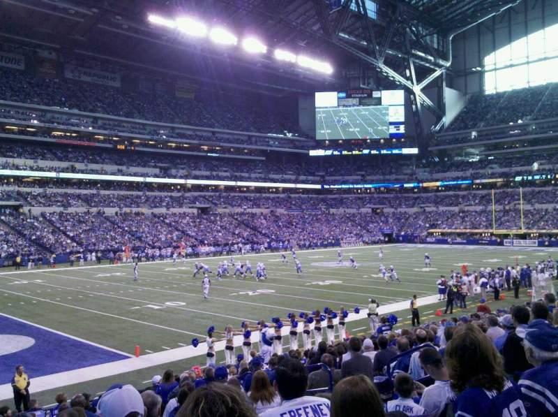 Vista sentada para Lucas Oil Stadium Secção 145 Lugar 9