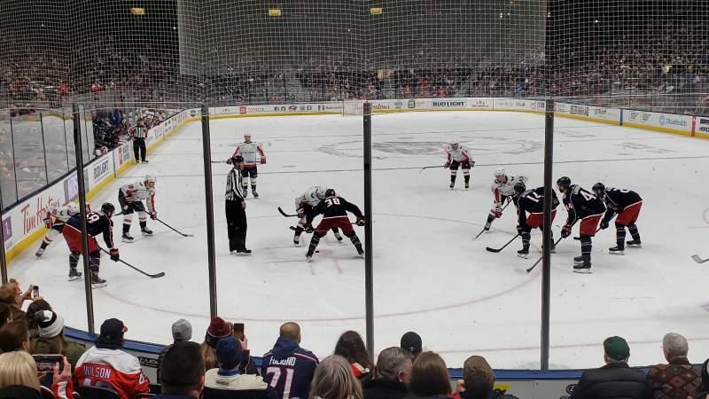 Vista sentada para Nationwide Arena Secção 121 Fila J Lugar 6