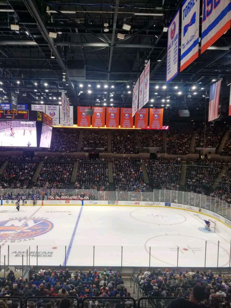 Vista sentada para Nassau Veterans Memorial Coliseum Secção 202 Fila 1 Lugar 1