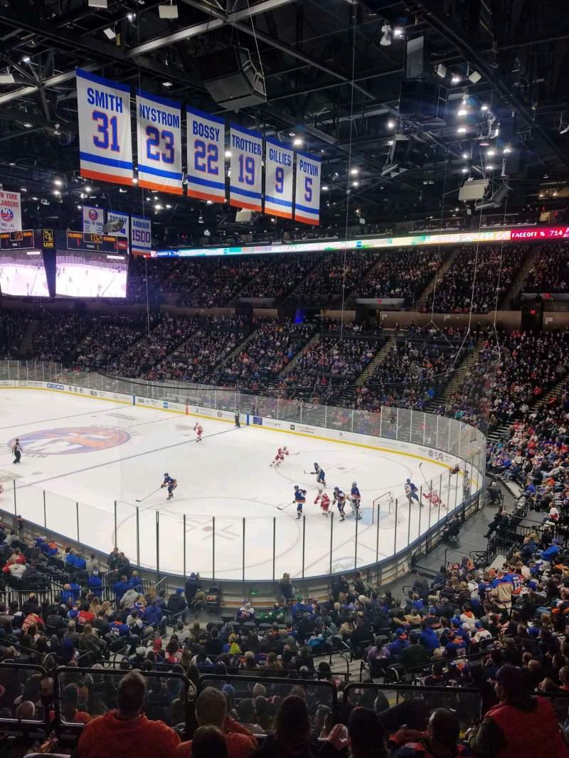 Vista sentada para Nassau Veterans Memorial Coliseum Secção 217 Fila 1 Lugar 1