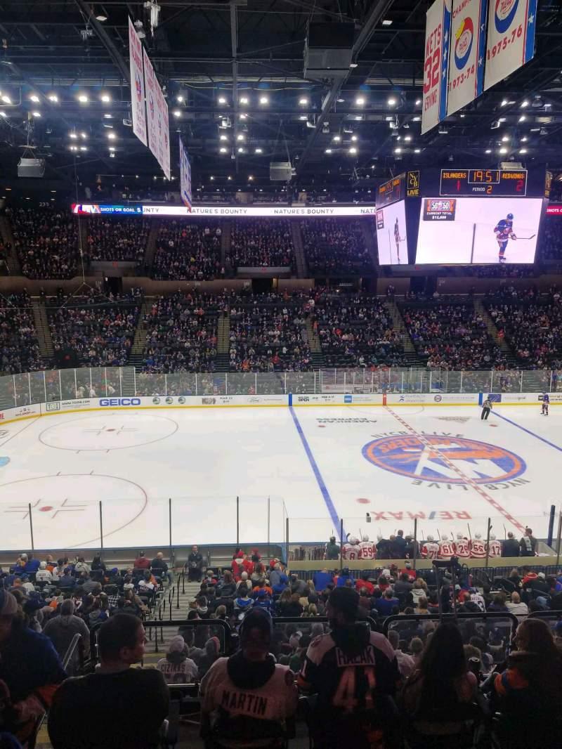 Vista sentada para Nassau Veterans Memorial Coliseum Secção 224 Fila 1 Lugar 1